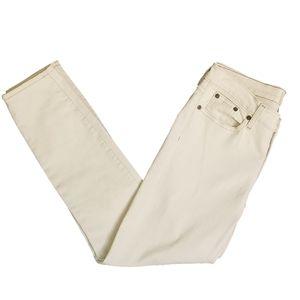 J. Crew Cream Toothpick Skinny Ankle Jeans Sz 27